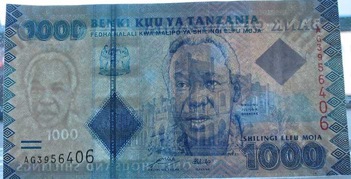 Водяные знаки танзанийского шиллинга