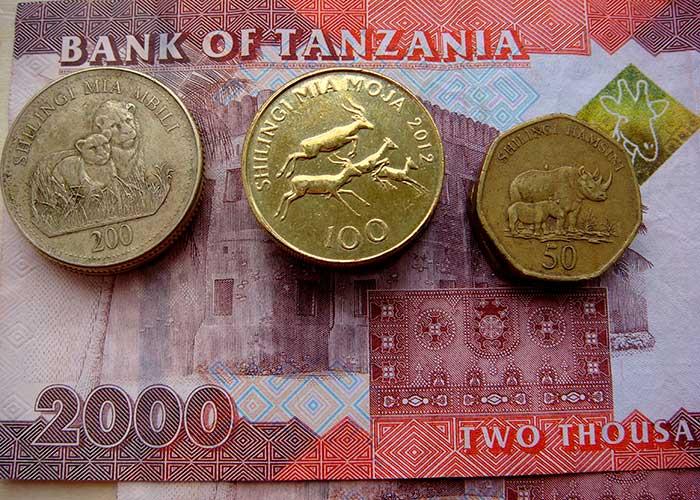 Монеты шиллинга в Танзании