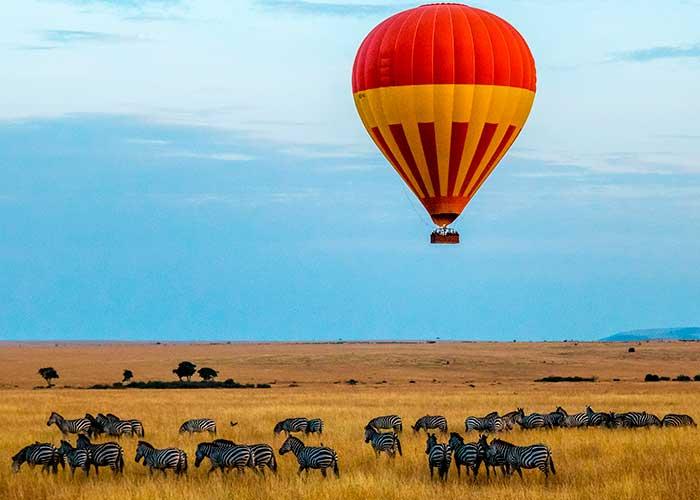 Полет на воздушном шаре в Африке