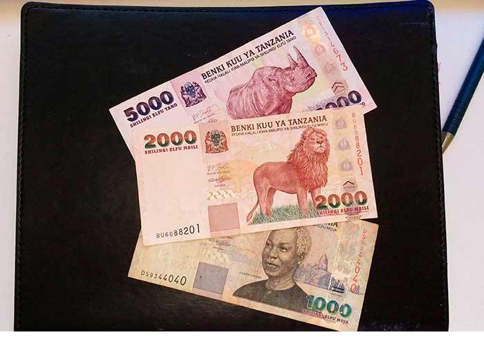Старые купюры танзанийских шиллингов