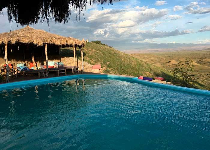 Видовой отель в горах Танзании